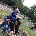 Youth Members Clean the Cemetery photo album thumbnail 3